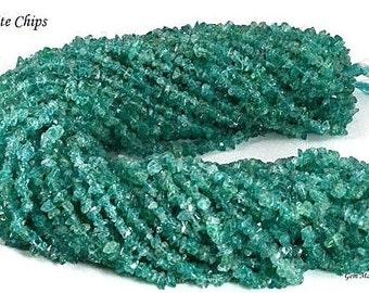 Single Strand 34 Inch Natural Beautiful Apatite Chip Beads 34 inch Strand WholeSale Price GemMartUSA (CHAP-70001)