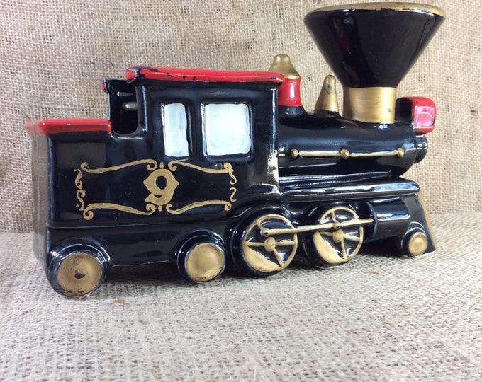 Pioneer Loco Caddy made in Japan, vintage train planter, ceramic Pioneer Loco Caddy planter, vintage train decor, train collectible
