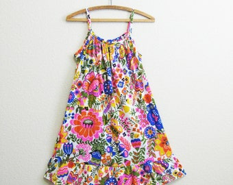 EPIC Mod Nightgown Floral Print Pink Purple Small Medium
