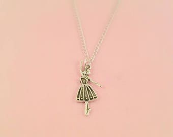 Ballerina Necklace, dancer necklace, dance lover gift, ballet lover gift, dance necklace, ballerina  gift, ballet gift dance teacher gift