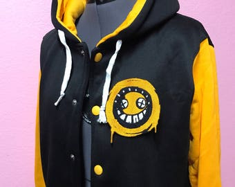 Junkrat Overwatch inspired Varsity Hoodie Jacket