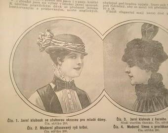 Vintage Bazar Fashion Magazine 1916. Edwardian, Scrapbooking, Ephemera, Art, Decoupage. (No. 12)