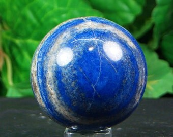 Lapis lazuli sphere hand carved  hand polished mineral specimen  390 Grams from, Afghanistan