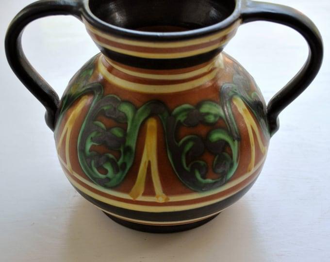 Antique Swedish Arts & Crafts Movement Vase Upsala Ekeby