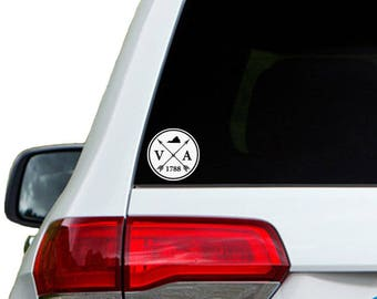 Virginia Arrow Year Car Window Decal Sticker