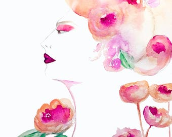 """Print from original watercolor painting 'Dolores"""""""