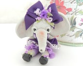 Elephant Miniature Figurine Collectible Doll
