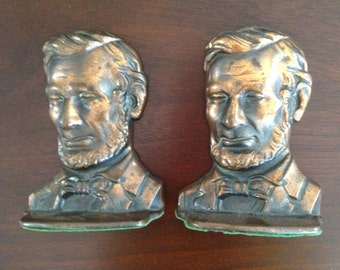 Abe Lincoln Cast Metal Bookends