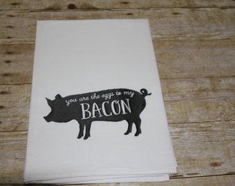 Bacon Kitchen Flour Sack Towel