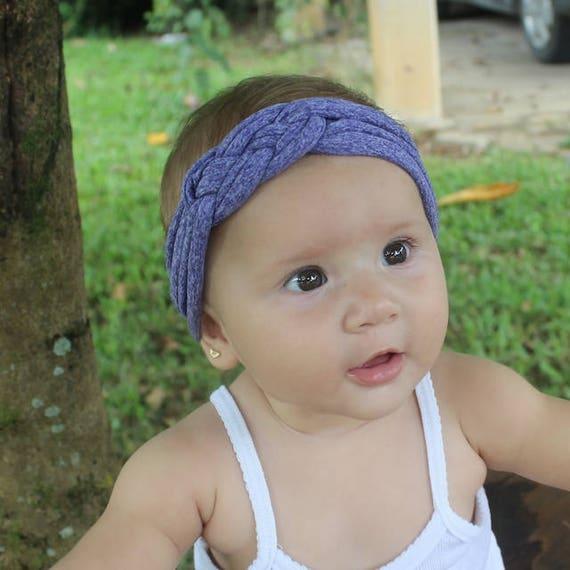 Purple headband, Baby headwrap, Knotted Headband, Newborn Headband, Toddler headband, Baby shower gift, knot headband adult, Purple Headband