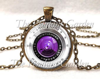 VINTAGE CAMERA LENS Pendant Camera Pendant Voigtlander Lens Photography Pendant Wedding Photographer Gift for Photographer Not Actual Lens