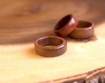 Mahogany Ring, Men's Wood Ring, Wooden Ring, Wood Turned Ring, Rustic Ring, Men's Accessories, Rustic Wedding, Woodland Wedding