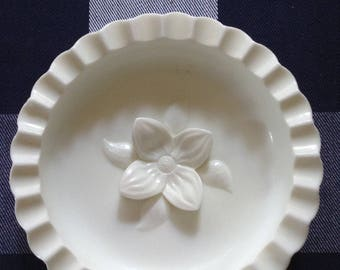 Fenton Hobnail Pipe Ashtray - Milk Glass
