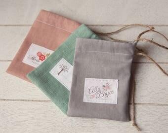 Chic Linen Gift Bag