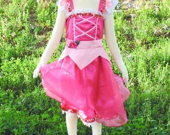 Girls 6-8 Pink Sleeping Beauty dress up apron