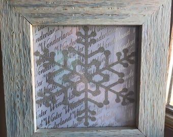 Winter Wonderland and Snowflake Wall Hanging
