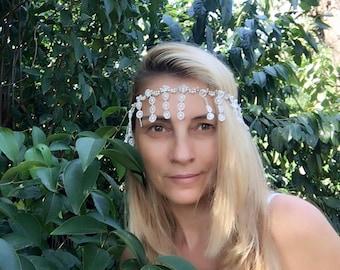 Bridal Headband, Wedding headband, Pearl Wedding Headband, hair jewelry, ivory head piece, brides accessories, gift for her