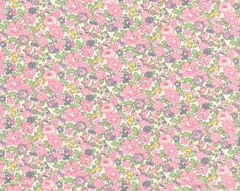 Pink fabric Liberty of London Betsy Ann
