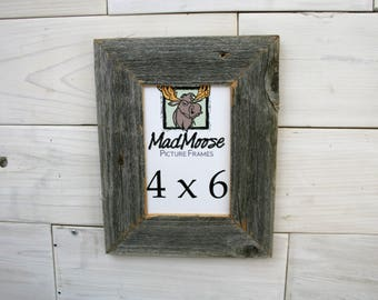 """4x6 BarnWood [Thin x 2""""] Picture Frame"""