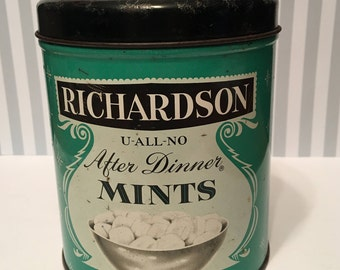 Mid-Century Candy Tin- Richardson After Dinner Mints