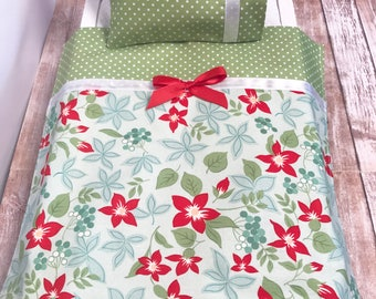 Doll Bedding, 18 Inch Doll Bedding, Doll Sheets, Doll Pillow, Includes Doll Pillow Case, Pillow and Sheet, Nanea Inspired