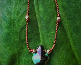 Strength in Turquoise Necklace