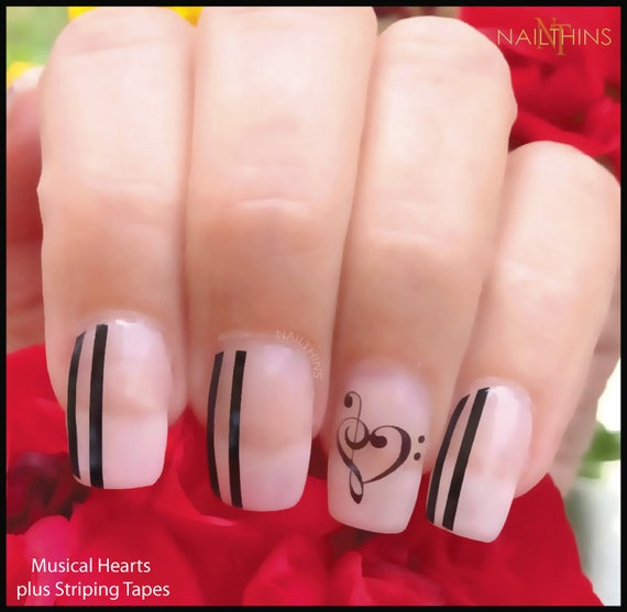 Hearts music note nail decal music heart nail decal nailthins nail hearts music note nail decal music heart nail decal nailthins nail design from nailthins on etsy studio prinsesfo Image collections
