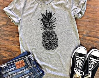 SALE ** Pineapple Shirt - Pineapple TShirt - Pineapple Tank Top Fruit Shirt - Pineapple T Shirt Tumblr Top - Hawaiian Shirt