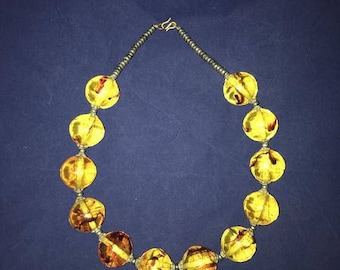 Huge Copal Amber Moroccan Bubble Necklace