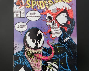 Vintage Marvel Comic Book, The Amazing Spider-Man, #347, May 1991