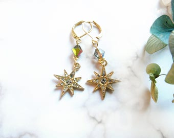 Starburst Swarovski Dangle Earrings