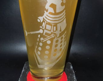 Doctor Who - Dalek inspired Etched Glass