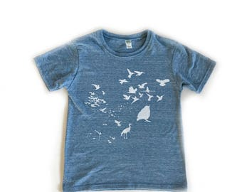 Flock Youth T-Shirt-Crew neck-Royal Apparel Eco Tri Blend Tee-Organic cotton, recycled poly and rayon.