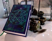 Necronomicon 500 Page Blank Book of Shadows, 6x9 Hand Painted Journal
