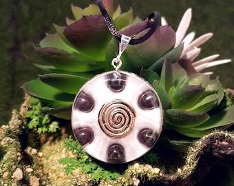 Hematite Orgone Pendant - Spiral - Root Chakra Healing Lightworker Jewellery - Medium