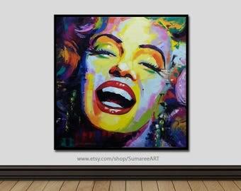67 x 67 cm, Marilyn Monroe art, wall decor painting