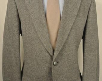 Hart Schaffner Marx Gray 100% Camel Hair Two Button Sport Coat Men's Size: 40L