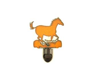 Running Horse Rusty Metal Image Style Night Light