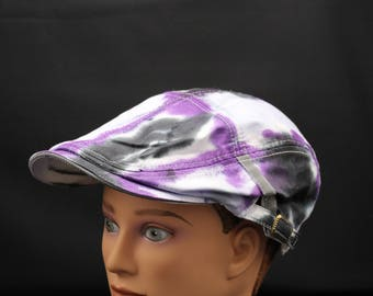 Tie Dye Flat Driving Samuel L Jackson Hat, Trippy Cruise Golf Ivy cap