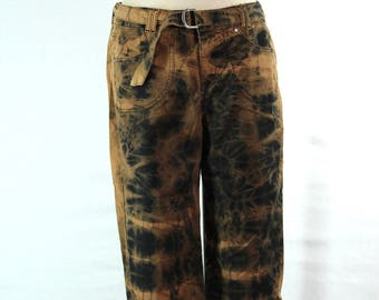 Tie Dye UPCYCLED Ladies Capris