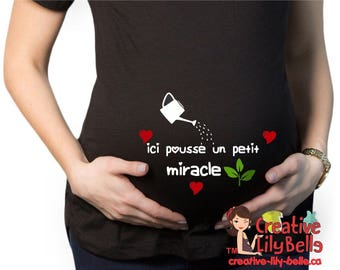 funny maternity shirt baby miracle cm233