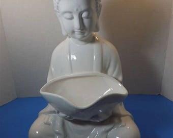 NEW Large Ceramic Buddha Sculpture Figurine Rounded Ushnisha Asian Zen Thai Oriental Spiritual Religious Hindu Gift
