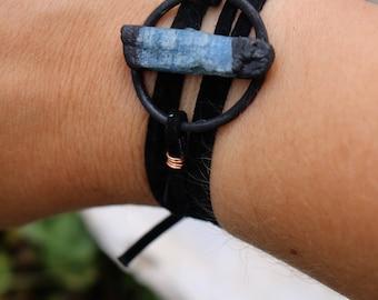 Blue Kyanite Copper Wrap Bracelet | Choker