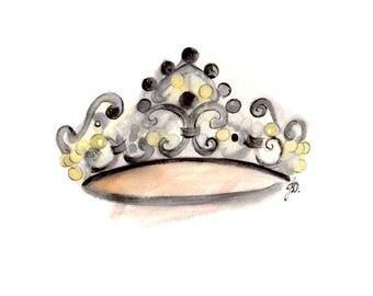 Princess Crown. Art print.