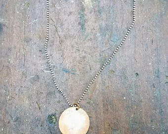 Salvaged copper handmade lunar moon eclipse phases astrology space celestial necklace