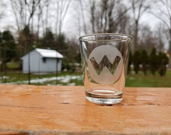 Wario Etched Shot Glass