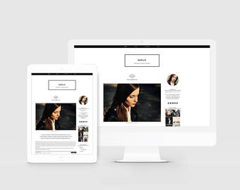 Fashion blogger template magazine style blog design fashion blogger template modern blog design lifestyle blog editorial theme responsive blog pronofoot35fo Choice Image