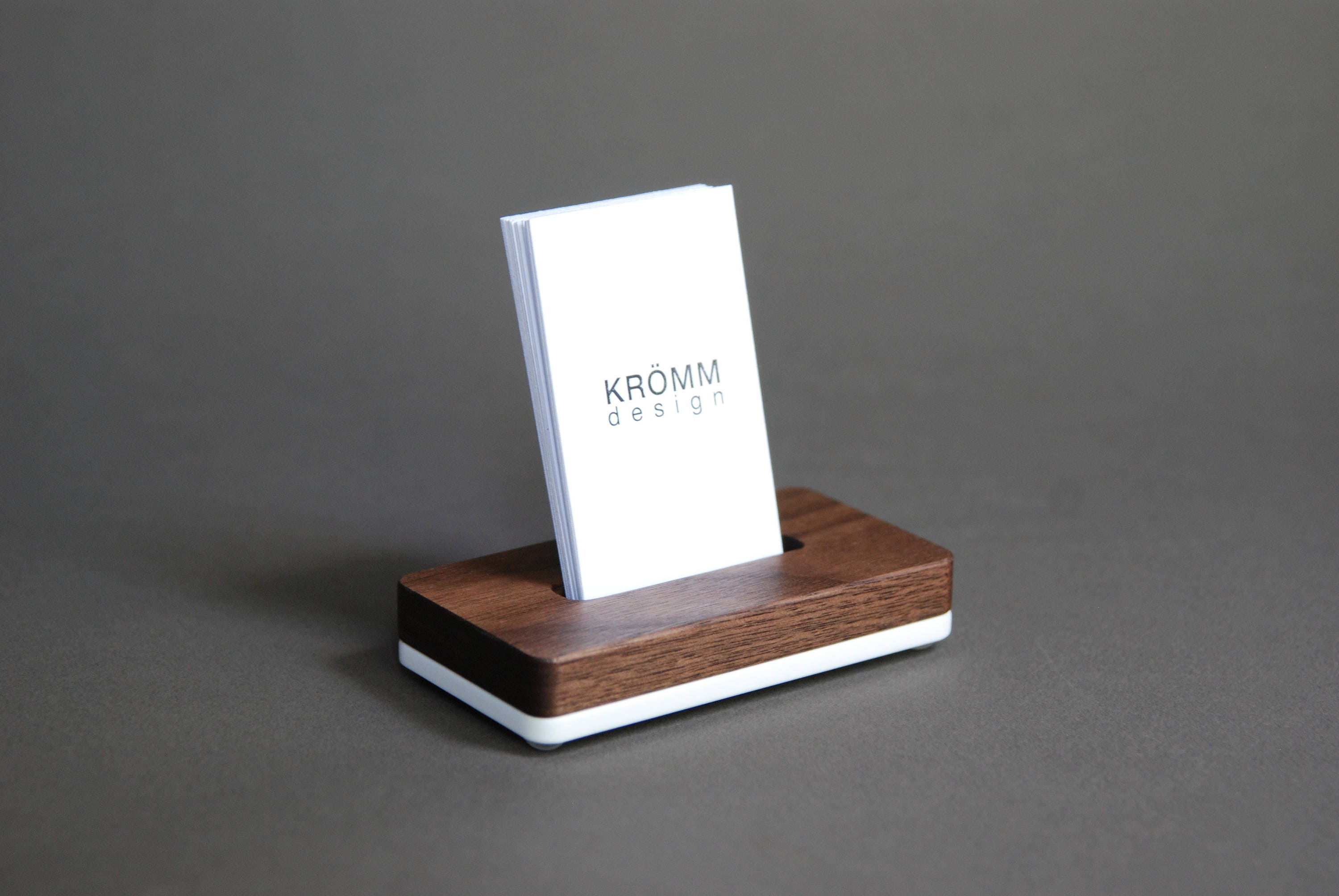 vertical moo business card stand business card display