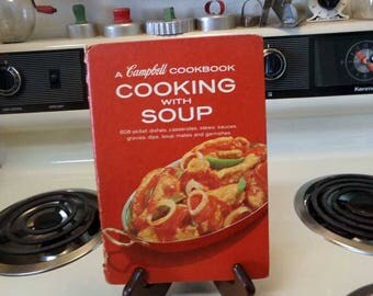 Cooking With Soup Campbell's Soup cookbook, vintage Campbell's Cookbook, Campbell's Soup cookbook