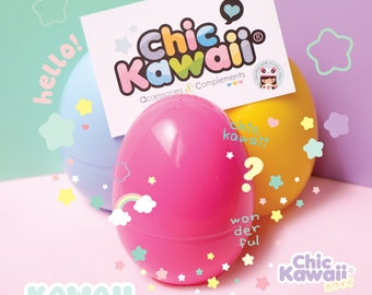 Chic Kawaii surprise box egg, lovely items inside.